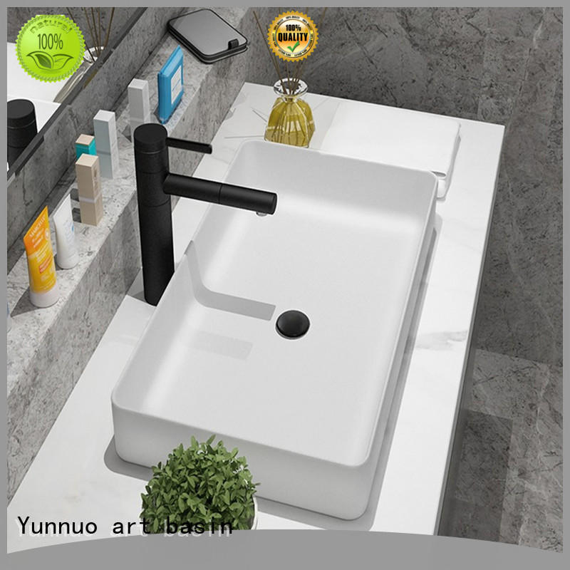 Yunnuo art basin high quality ceramic bathroom sink bulk production bistro