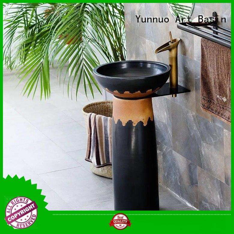 Yunnuo art basin modern bathroom pedestal sink wash basin set designs discount patio
