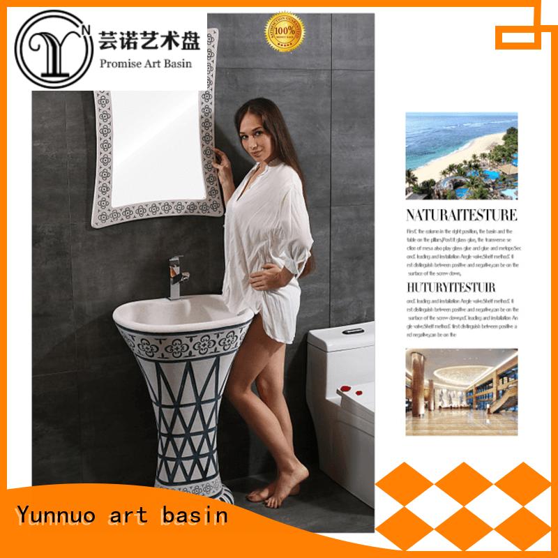 Yunnuo art basin good quality sandstone basin manufacturer patio