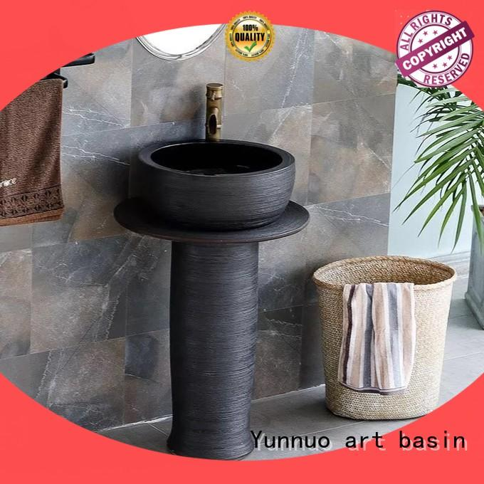 Yunnuo art basin on-sale bathroom wash basin counter designs professional bathroom decor