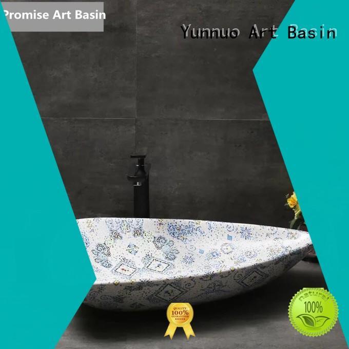 Yunnuo art basin designs stone basin vanity unit colorful open-air lounge bar