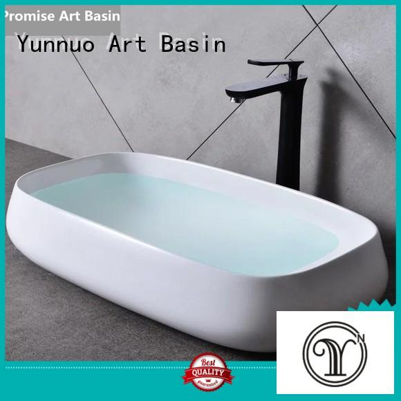 highend Custom wash stone countertop basin style Yunnuo art basin