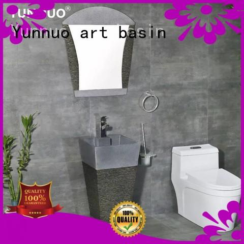 Yunnuo art basin beautiful pedestal vessel sink manufacture project