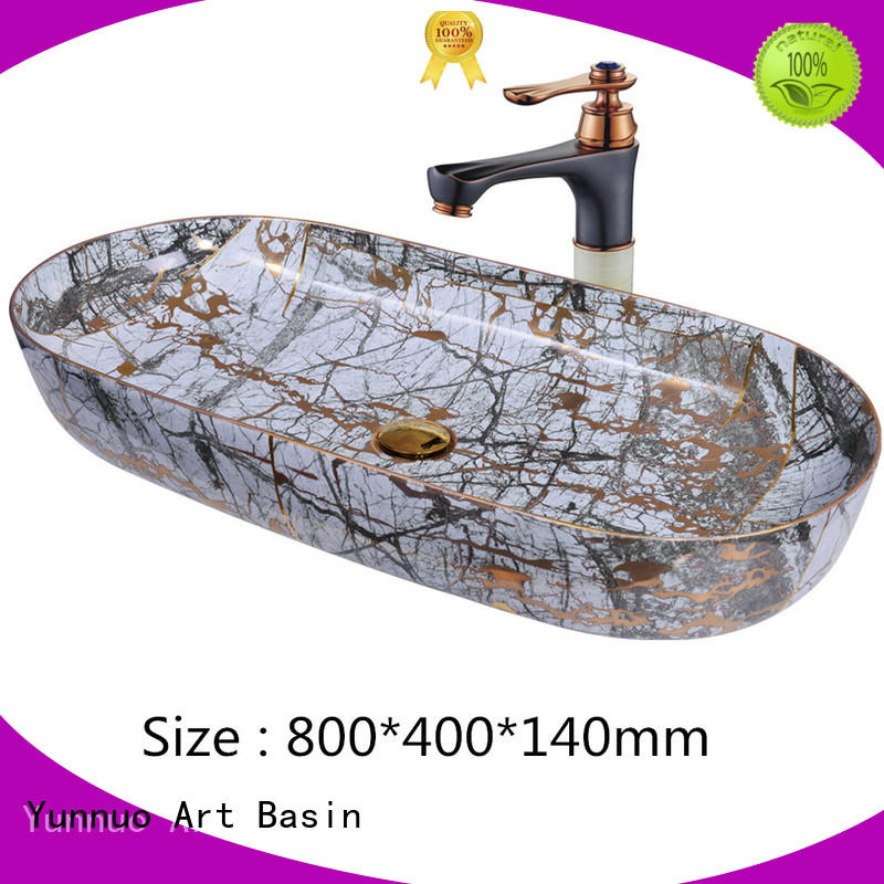 Yunnuo art basin products table top basins colorful for hotel