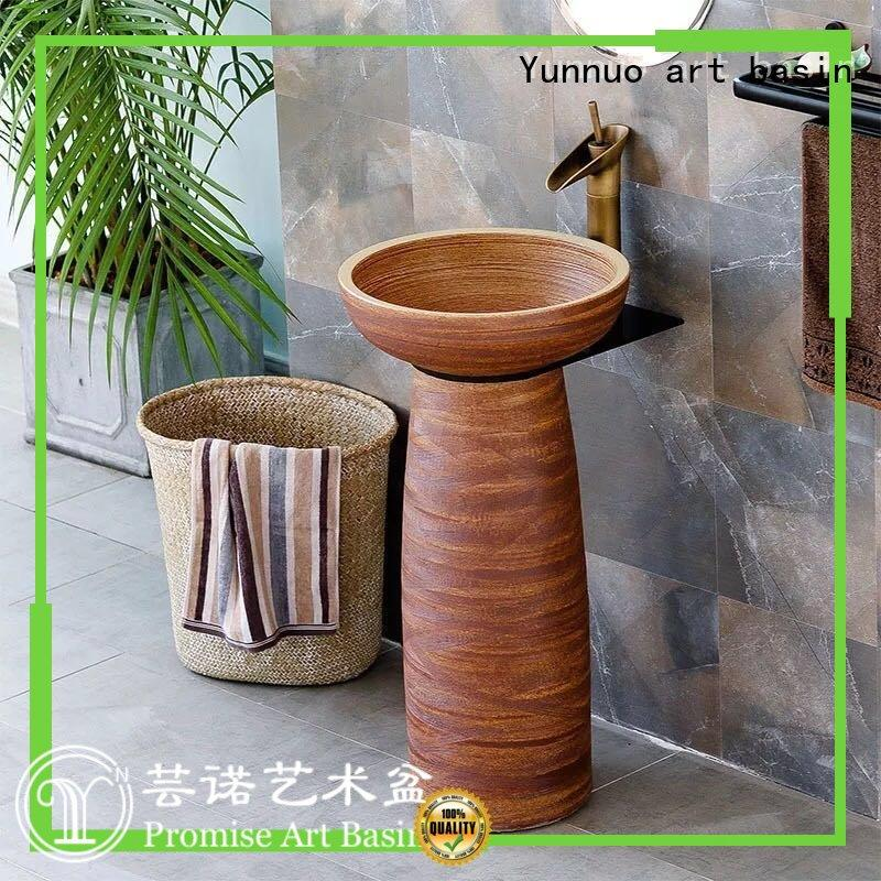 Yunnuo art basin pedestal sinks for sale wash basin set designs handmade patio