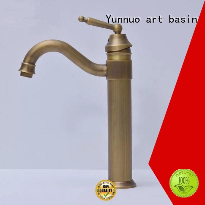 Yunnuo art basin bathroom taps hot sale patio