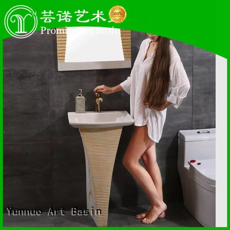 Yunnuo art basin professional freestanding bathroom basin company bistro