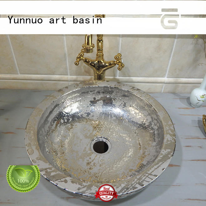 Yunnuo art basin handmade bathroom basin OEM Restaurant
