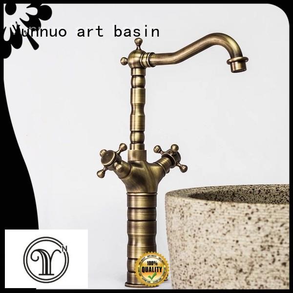 Yunnuo art basin made bathroom taps hot sale patio