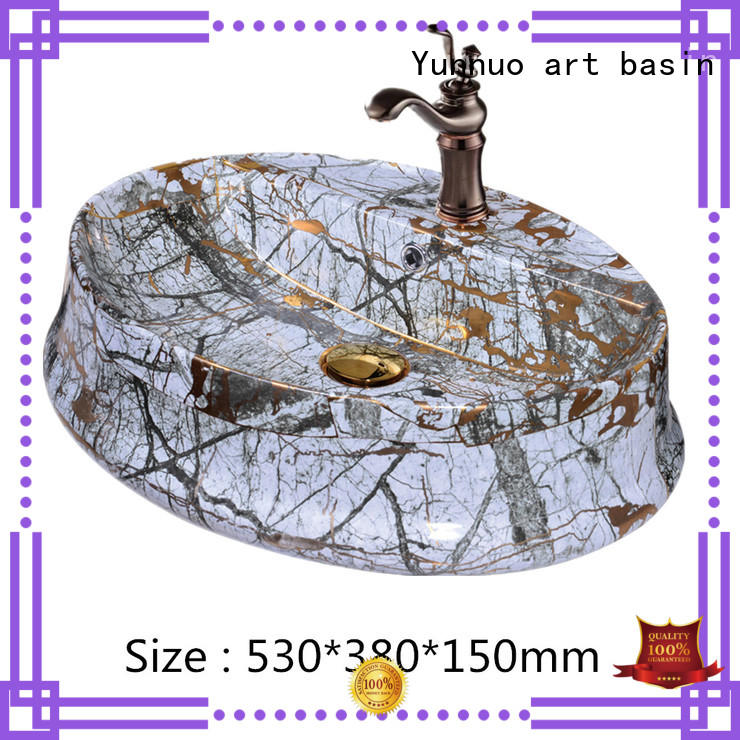 Yunnuo art basin modern design art wash basin colorful for hotel