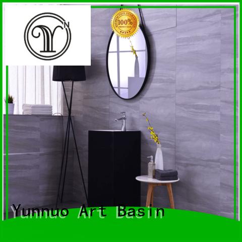 Hot bathroom sink manufacturers rock Yunnuo art basin Brand