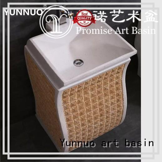 Yunnuo art basin sculpture pedestal vessel sink supplier balcony