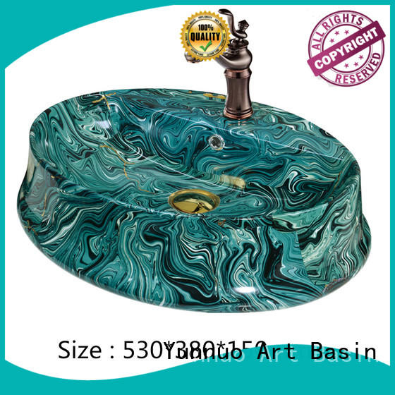 Yunnuo art basin designs art sink factory price for restroom