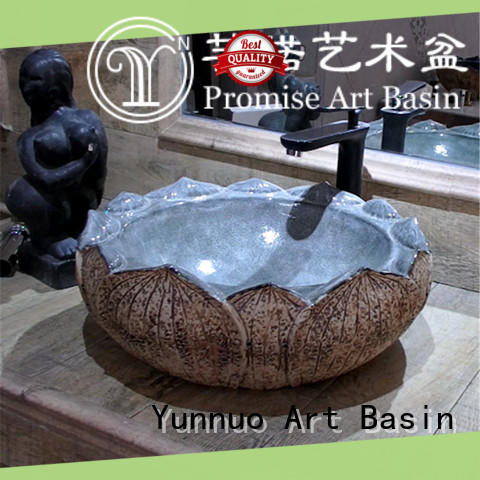 Yunnuo art basin modern design art basin factory price for hotel