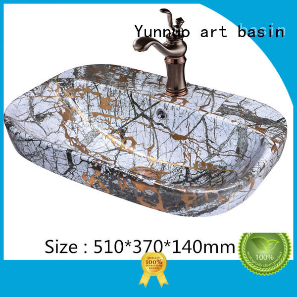 Yunnuo art basin art basin table top basins colorful for hotel